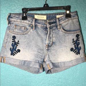 Blue cactus & flower design shorts